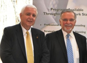 Dean L. Balsamini, director of the Staten Island SBDC, and Certified Senior Business Advisor Edward Piszko work to ensure the success of new and aspiring business owners on Staten Island and Brooklyn.