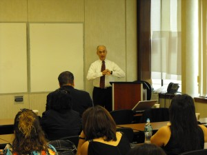 Public relations encourages Barton Horowitz, president of Relevant Public Relations, provides marketing tips in a classroom filled with real estate professionals during a presentaion at the Staten Island Board of Realtor explains how to market businesses through the use of social media sites, such as Facebook, Twitter and others