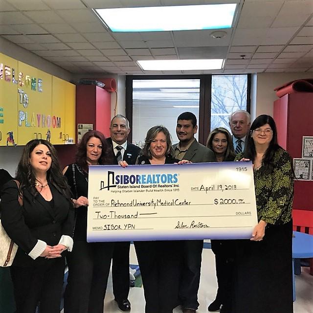 Staten Island Board of Realtors Donates $2,000 for RUMC's
